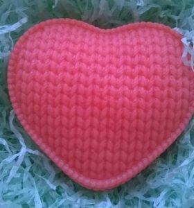 Вязанное сердце. Мыло