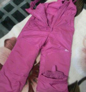 Лыжные брюки на девочку