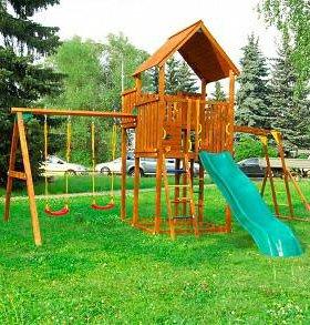Детские городки Jungle Palace + Swing X'tra +