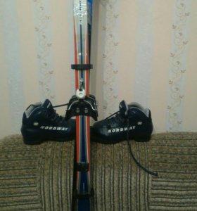 Лыжи 34размер