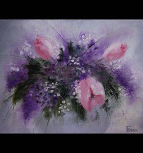 """Картина """"Тюльпаны""""."""
