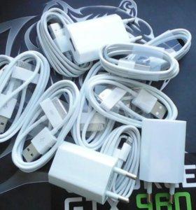 Шнуры и блоки Айфон 4,4s,5,5c,5s,6,6s, aйпад 2