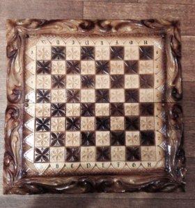 Шахматы/нарды ручной работы