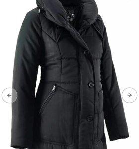 Стеганая куртка- пальто для беременных зимняя