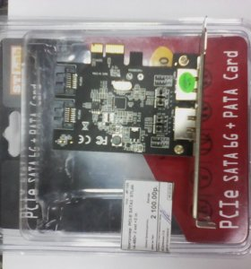 Контроллер PCI-E SATA3 STLab 2 ext+2 in