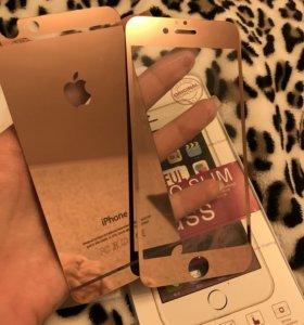 Пленка стекло розового цвета iphone 6