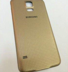 Задняя крышка для Samsung Galaxy S5/S5Duos золото
