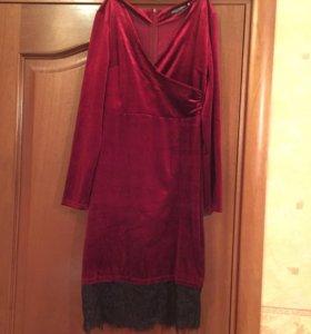 Велюровое бархатное платье новое 46-48 размер
