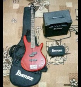Комплект Ibanez ijsr190U bass jumpstart red