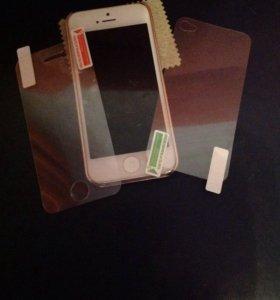 Защитная плёнка IPhone 4,4S комплект front-back