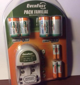 ✅ everfast набор: зарядка, адаптеры, аккумуляторы