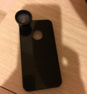 новый чехол фишай для iPhon 4/4s