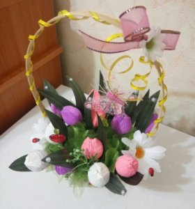 Корзиночка Тюльпаны