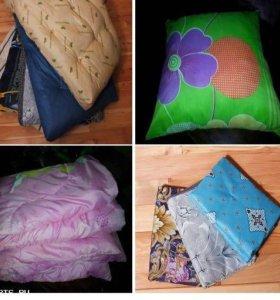 Матрасы, подушки , одеяло.