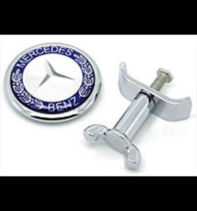 Эмблема на капот Mercedes Benz на капот 45 мм