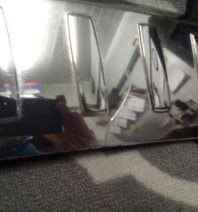 ML w166 накладки заднего бампера хром