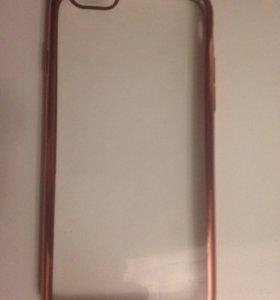 Чехол iPhone 6 розовое золото новый отдам даром.