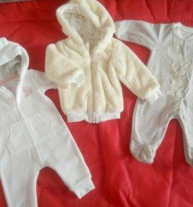 Одежда для девочки пакетом размер 62-68