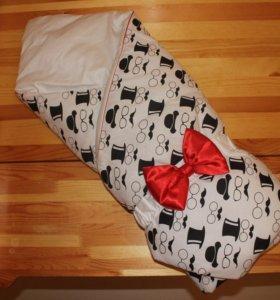 Конверт одеяло на выписку новый