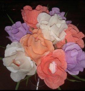 Букеты из конфет (розы)