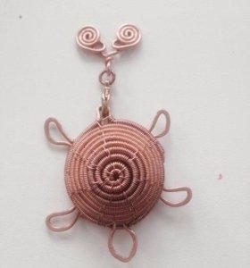 Аромамедальон черепашка  (hand made)
