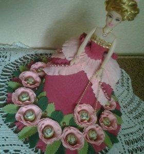 Кукла барби конфетница