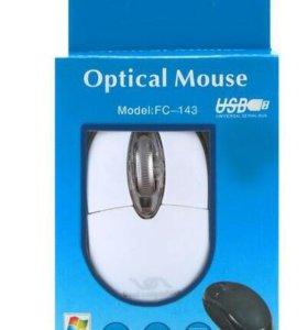 Мышь оптическая провод USB
