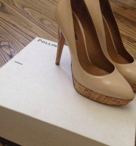 кожаные туфли Pollini