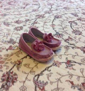 Туфли детские натуральные замшевые размер 25
