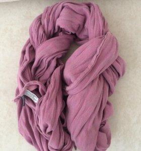 Слинг-шарф Ellevill peysley нежно-розовый