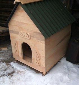 Делаю будки для собак