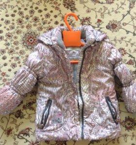 Куртка демисезонная тёплая размер 98