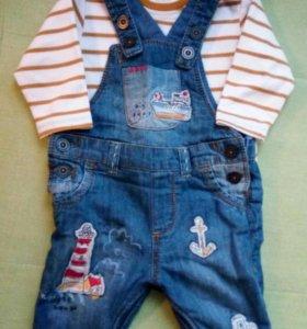 NEXT Комплект- комбинезон джинсовый и боди