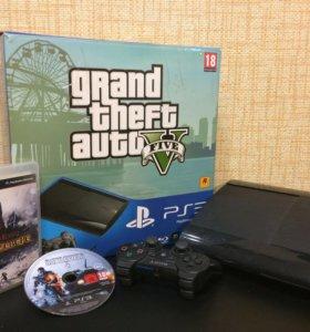 PlayStation3 GTA 5  version 500GB + 6 games