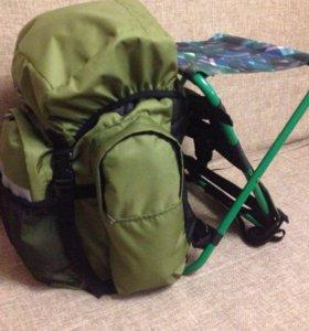 Рюкзак со встроенным стульчиком 40 литров новый