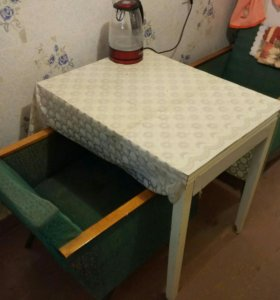 Стол кухонный, кресла