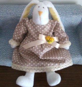 Новая текстильная кукла тильда зайка