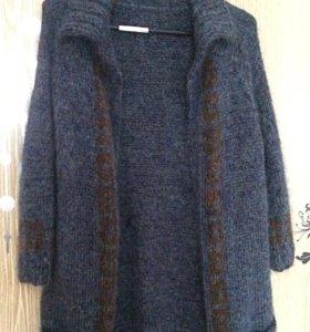 Кардиган (кофта/свитер/ вязаное пальто) мохер 100%