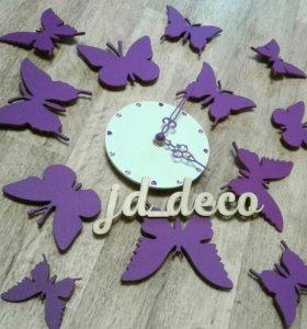 """Настенные часы """"Бабочки """""""