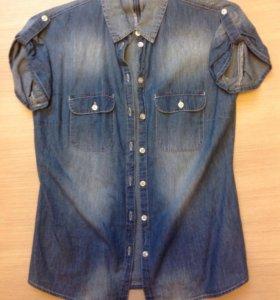 Рубашка джинсовая, жен.
