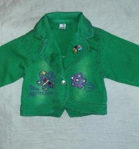 Джинсовый пиджачок на девочку