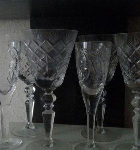 Хрустальные фужеры и бокалы
