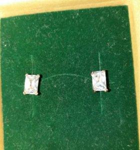 Серьги с церконом(серебро)