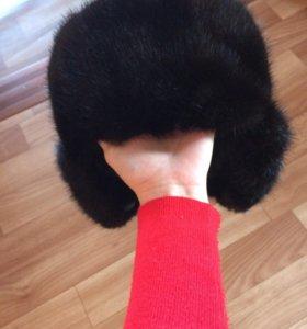 Шапка-меховая+ куртка-меховая Чернобурка