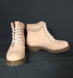 Ботинки Timberlend розовые, арт 0003