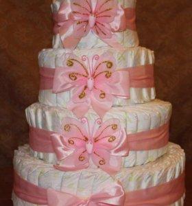 Торт из подгузников (подарок на выписку)