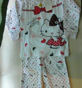 Детские пижамы для девочек от года до 5 лет