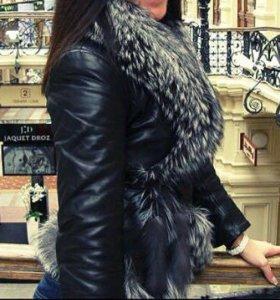 Тёплая кожаная куртка