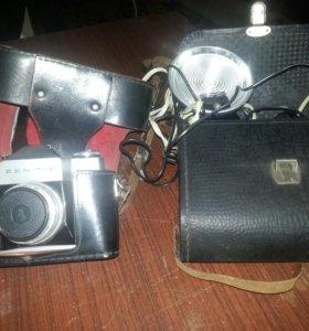 Фотоаппарат и вспышка СССР