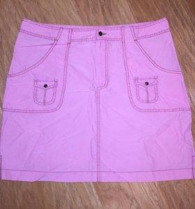 Юбка розовая летняя XL